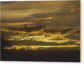 Fire In The Sky Wood Print by Lynard Stroud