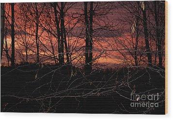 Fire In The Sky Wood Print by Robert Sander