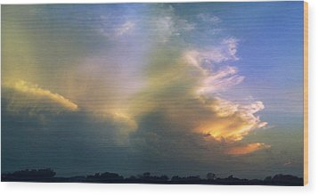 Wood Print featuring the photograph Fire In The Sky by Rod Seel