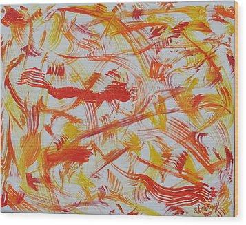 Fire Nymphs Wood Print by Sandra Winiasz