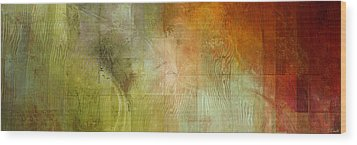 Fire On The Mountain - Abstract Art Wood Print