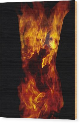 Fire One  Wood Print by Arla Patch