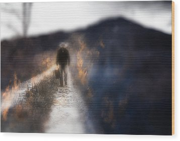 Wood Print featuring the photograph Fire Road by Gray  Artus
