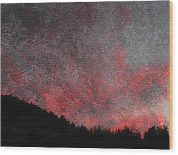 Fire Sunset Wood Print by Dorothy Berry-Lound