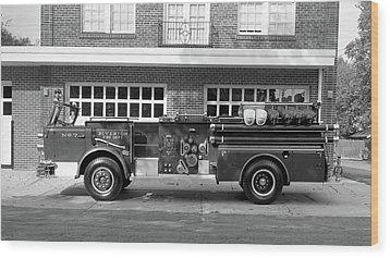 Fire Truck Wood Print by Paul Seymour