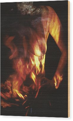 Fire Two Wood Print by Arla Patch