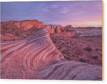 Wood Print featuring the photograph Fire Wave Evening Light by Patricia Davidson