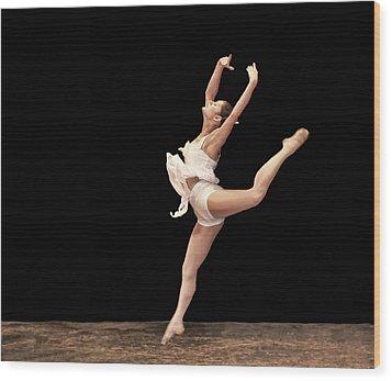 Firebird Ballet Position Wood Print