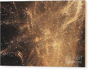 Fired Up Wood Print by Debbi Granruth