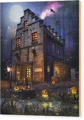 Firefly Inn Halloween Edition Wood Print