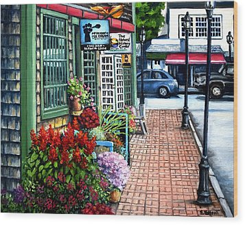 Firefly Lane Bar Harbor Maine Wood Print