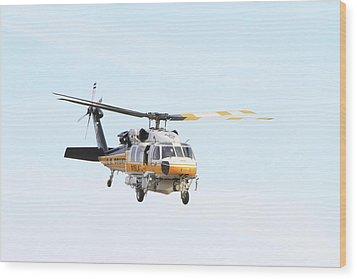 Firehawk In Flight Wood Print