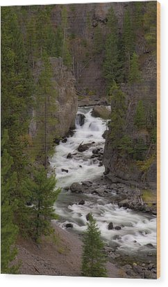 Wood Print featuring the photograph Firehole Canyon by Steve Stuller