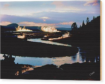 Firehole River 2 Wood Print
