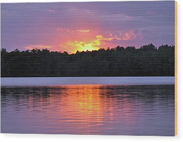 Wood Print featuring the photograph Sunsets by Glenn Gordon