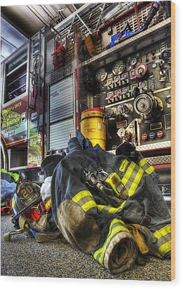 Firemen Always Ready For Duty - Fire Station - Union New Jersey Wood Print