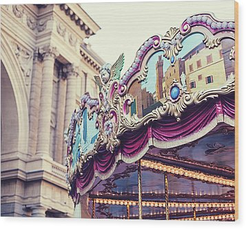 Wood Print featuring the photograph Firenze Carousel by Melanie Alexandra Price