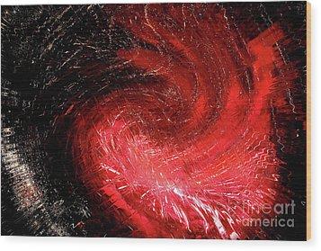Firestorm Wood Print by Sheila Ping