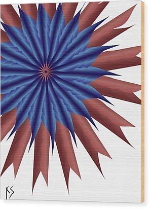 Firewerx Wood Print by Kevin  Sherf