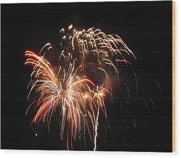 Firework 1 Wood Print by Michael Albright