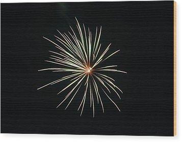 Fireworks 002 Wood Print by Larry Ward