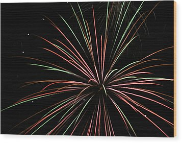 Fireworks 2 Wood Print by Ron Read