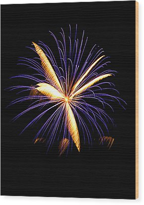 Wood Print featuring the photograph Fireworks 6 by Bill Barber