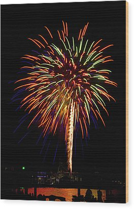 Wood Print featuring the photograph Fireworks by Bill Barber