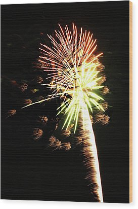 Fireworks From A Boat - 9 Wood Print by Jeffrey Peterson