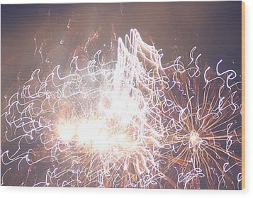 Fireworks In The Park 6 Wood Print
