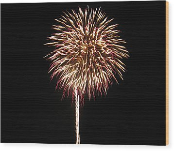 Wood Print featuring the photograph Fireworks by Michael Albright
