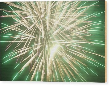 Fireworks Wood Print by Ronald Britton