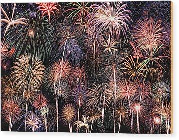 Fireworks Spectacular II Wood Print