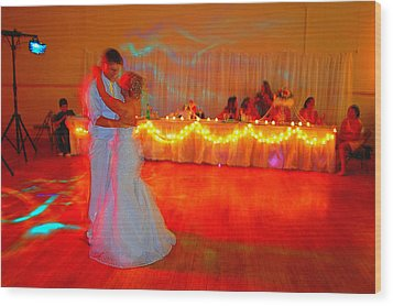 First Dance Wood Print by Jame Hayes