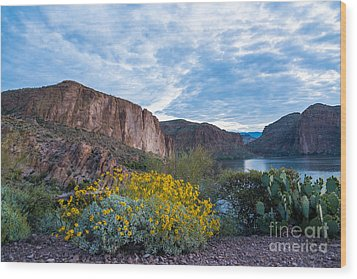 First Day Of Spring - Canyon Lake Wood Print by Leo Bounds