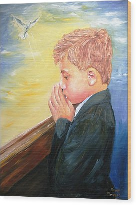 First Holy Communion Wood Print by Dave Manning