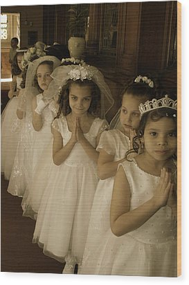 First Holy Communion Wood Print