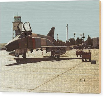 Wood Print featuring the digital art First Jet by Walter Chamberlain