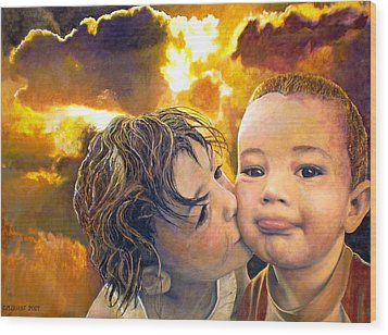 First Kiss Wood Print by Michael Durst