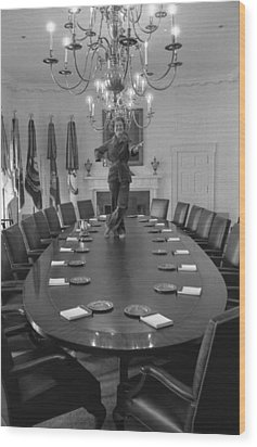 First Lady Betty Ford Dances Wood Print by Everett