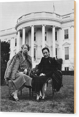 First Lady Eleanor Roosevelt, And Wife Wood Print by Everett