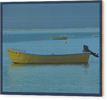 first light - Cape Cod Bay Wood Print by Rene Crystal