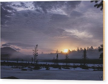 First Light At Wolf Pond Wood Print