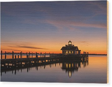First Light Wood Print by Gregg Southard