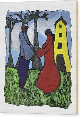 First Love Wood Print by Wayne Potrafka