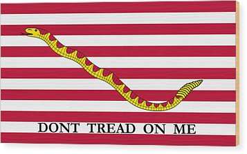 First Navy Jack Wood Print by War Is Hell Store
