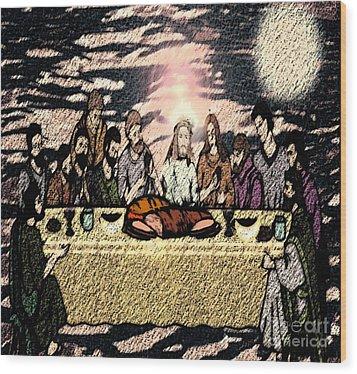 First Sacrament Wood Print by Belinda Threeths