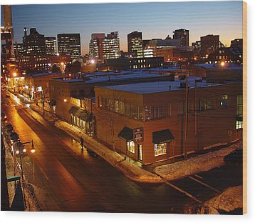 First Street Wood Print by Eric Workman