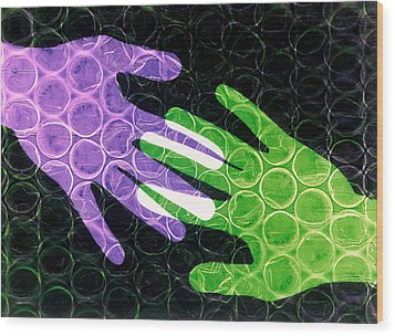 First Touch Wood Print by Gerard Fritz