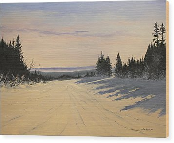 first tracks Stratton Wood Print by Ken Ahlering